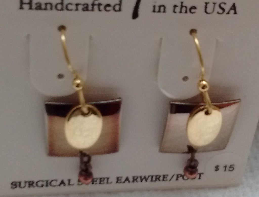 Silver Forest Hand Crafted Earrings Made in USA - Item NE0229