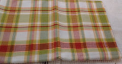 Park Design - Green Apple Unlined Valance  72 x 14 Inches Plaid - Olde Church Emporium