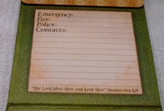 Legacy Proverbs Fridgemate Magnetic Phone List with Tabbed Sections - Olde Church Emporium