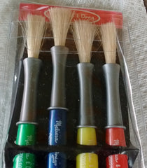 Melissa and Doug Kids Large Paint Brush Set Easy Grip Ages 3 and UP - Olde Church Emporium