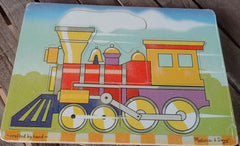 Melissa and Doug Colorful Wooden Puzzles Everyday Items Ages 2 and UP