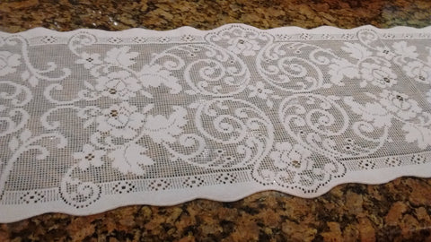 Heritage Lace Terrace Hill Tabletop Lace in White, Ecru Made in USA