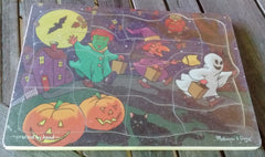 Melissa and Doug Wooden Hand Crafted Seasonal Jigsaw Puzzles -Spring, Summer, Fall, Winter, Halloween Ages 3+