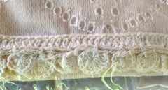 Heritage Lace Prima Eyelet Tier with Trim 42 x 30 Inches Cafe - Olde Church Emporium