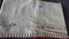 Park Designs Sentiments Live Laugh Love Appliqued Lined Valances 60 x 14 Inches - Olde Church Emporium