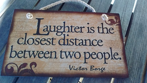 Wooden Sign Humor, Proverbs, Victor Borge Made in USA Free Shipping