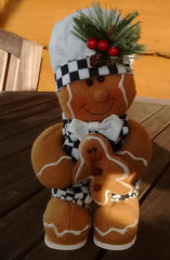 Gingerbread Man  Novelty decorative item. 4 styles