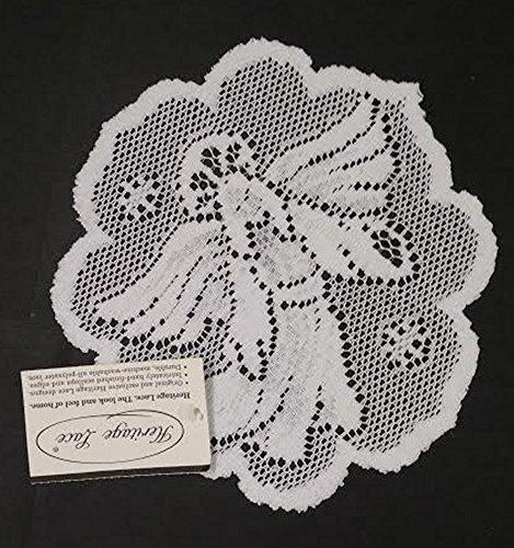 Heritage Lace Nativity 8 Inch Round Doilies Made in USA Ecru White - Olde Church Emporium