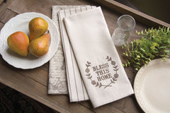 Heritage Lace - Nature's Script Collection - Apron and Tea Towels in Cream Color [Home Decor]- Olde Church Emporium