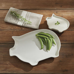 Park Designs Park Designs Pig Serving Platter 12.5L x 9.5W x 1D Inches - Olde Church Emporium