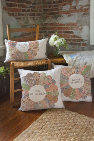 Heritage Lace - Quilted Wisdom Collection - Pillows in Oyster Color