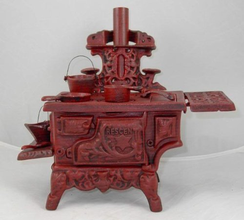 Cast Iron  -  Reproduction Decorative Collectible Old Style Cooking Stove - 2 Colors - Olde Church Emporium