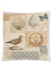 Heritage Lace - Shorebirds Collection - Pillows, Placemats and Runners in Oyster Color [Home Decor]- Olde Church Emporium