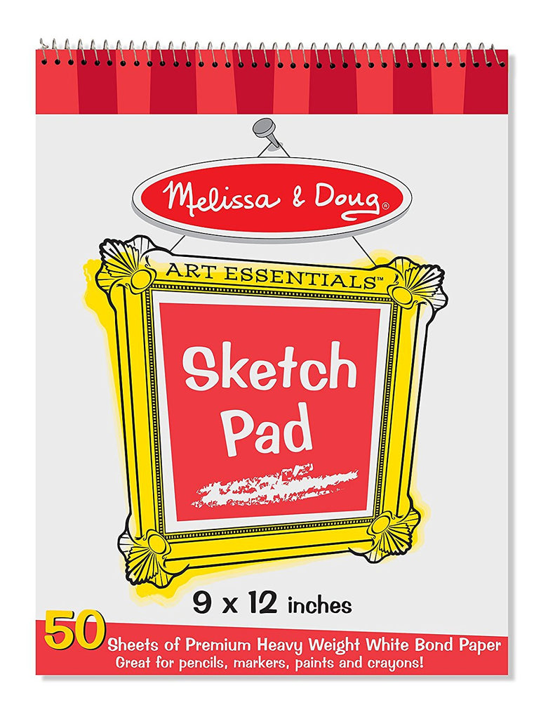 "Melissa & Doug  - Sketch Pad 9"" by 12"" Made in USA [Home Decor]- Olde Church Emporium"