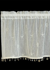 Heritage Lace Sand Shell Collection - Curtains, Runners, Material, etc