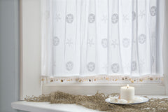 Heritage Lace Sand Dollar Collection - Valances, Tiers and Panels in White