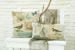 Heritage Lace - Shorebirds Collection - Pillows, Placemats and Runners in Oyster Color