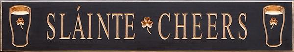 Cheers Slainte (Health) Sign for Man Cave Irish