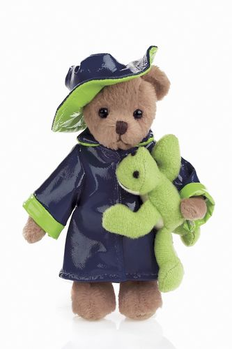 Bearington- Tad and Toad Miniature Plush Bear 4.5 Inches and Retired - Olde Church Emporium