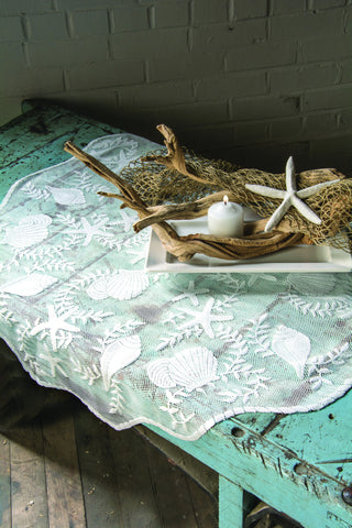 Heritage Lace - Tidepool Collection - Tabletop, textiles in White Color