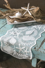 Heritage Lace - Tidepool Collection - Tabletop, textiles in White Color - Olde Church Emporium