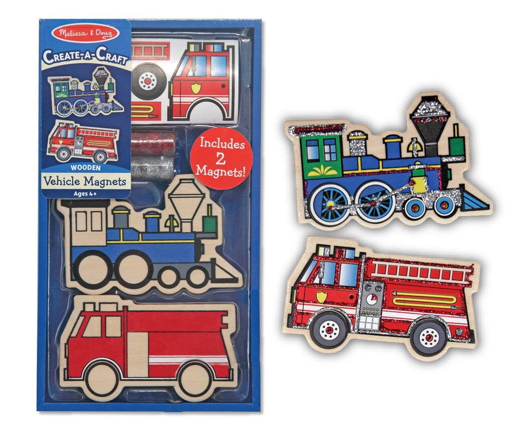 Melissa & Doug - Create-A-Craft (DYO) Wooden Vehicles Magnets (2 pieces) [Home Decor]- Olde Church Emporium