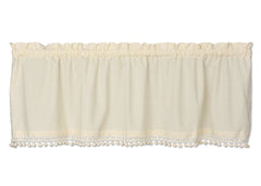 Heritage Lace - Vintage Pom Pom Collection - Curtains and Home Textiles in Various Colors, - Olde Church Emporium
