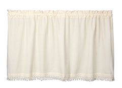 Heritage Lace - Vintage Pom Pom Collection - Curtains and Home Textiles in Various Colors,