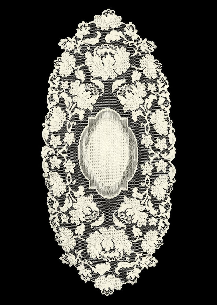 Heritage Lace Windsor Collection - Curtains and Tabletop  Made in USA 2 Colors - Olde Church Emporium