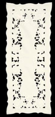 Heritage Lace Wild Rose Collection - Placemats, Doilies, Runners, Table Toppers Ivory