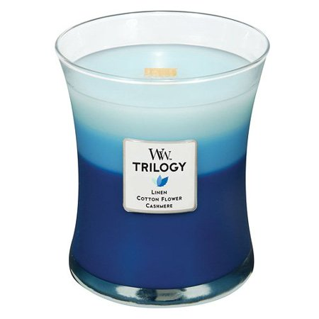 WoodWick Candle Trilogy - Clothesline Fresh - 10oz Size 100 Hr Burn