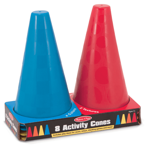 Melissa and Doug Activity Cones - Set of 8 Colorful