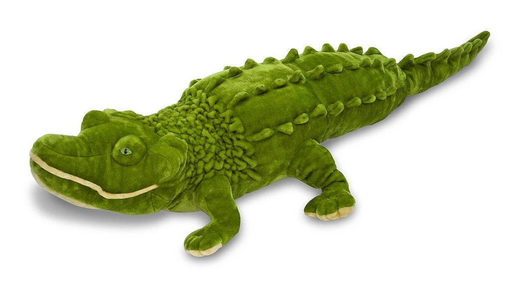 Melissa & Doug - Giant Alligator - Lifelike Stuffed Animal (nearly 6 feet long) - Olde Church Emporium