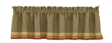 "Park Designs - Allspice Lined Patch and/or border valance - 60"" X 14""/72"" x 14"""