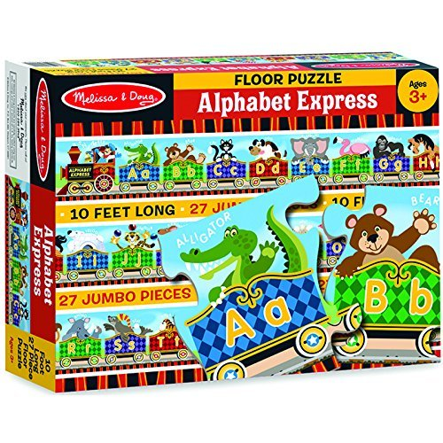 Melissa and Doug 27 Piece Alphabet Express Floor Puzzle - 10 feet long [Home Decor]- Olde Church Emporium