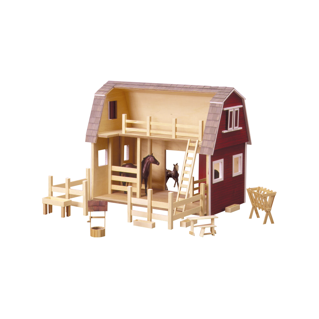 Ruff N Rustic All American Barn Dollhouse Kit By Real Good Toys