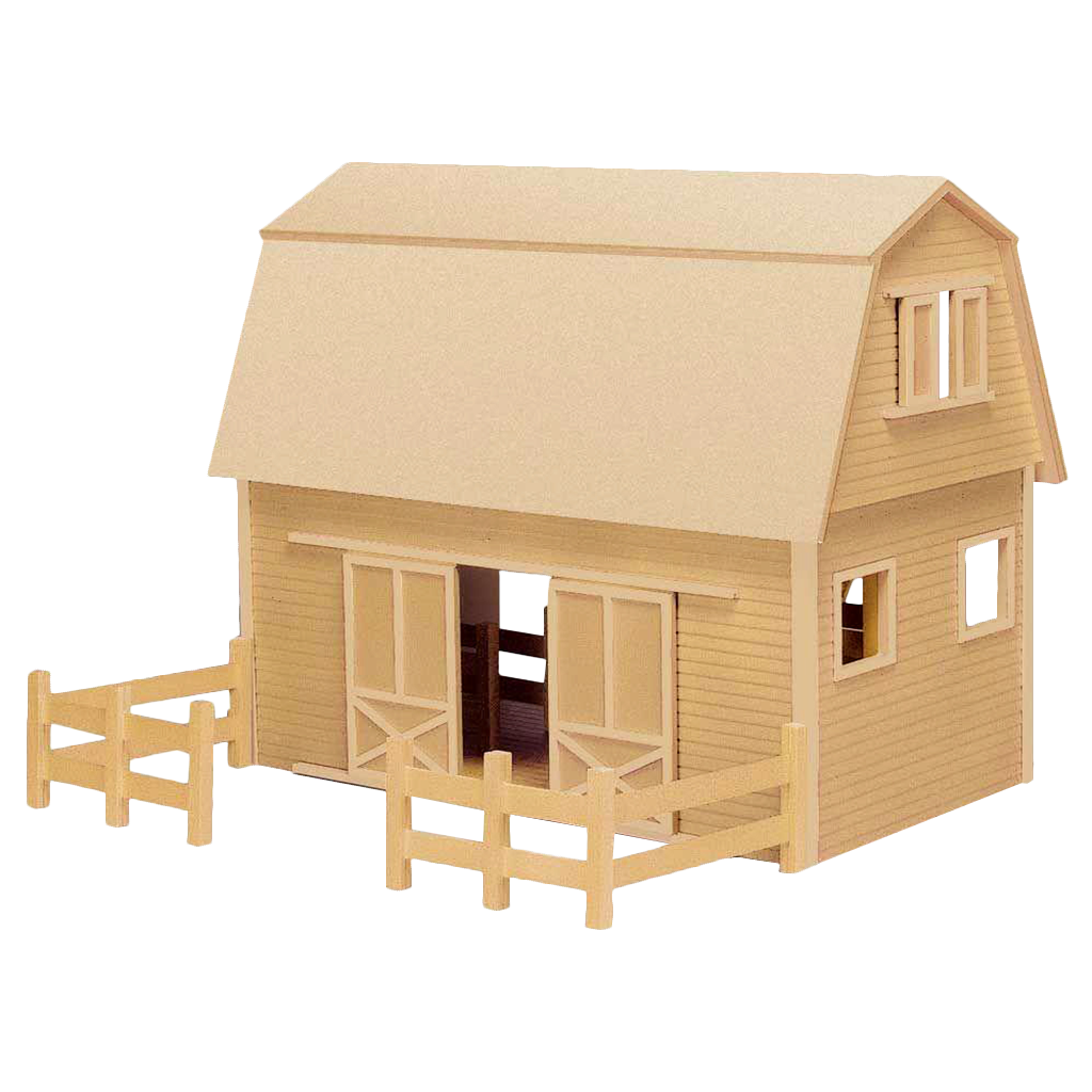 Ruff 'n Rustic All American Barn Dollhouse Kit  by Real Good Toys [Home Decor]- Olde Church Emporium