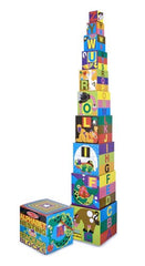 Melissa & Doug - Deluxe 10-Piece Alphabet Nesting and Stacking Blocks [Home Decor]- Olde Church Emporium