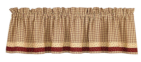 Park Designs Apple Jack Valances and Runners 72 x 14 Inches