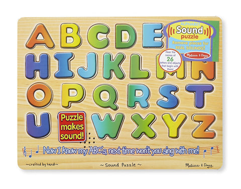 Melissa & Doug - Alphabet Sound Puzzle - Wooden Puzzle With Sound Effects (26 pcs)