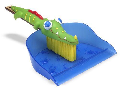 Melissa & Doug Sunny Patch Augie Alligator Dustpan and Brush [Home Decor]- Olde Church Emporium