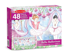 Melissa & Doug Bella Ballerina Jumbo Jigsaw Floor Puzzle (48 pcs, nearly 4 feet long) [Home Decor]- Olde Church Emporium