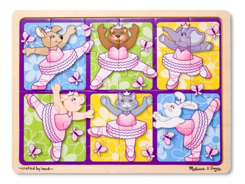 Melissa & Doug  24 Piece Ballerinas and Butterflies Jigsaw Puzzle [Home Decor]- Olde Church Emporium