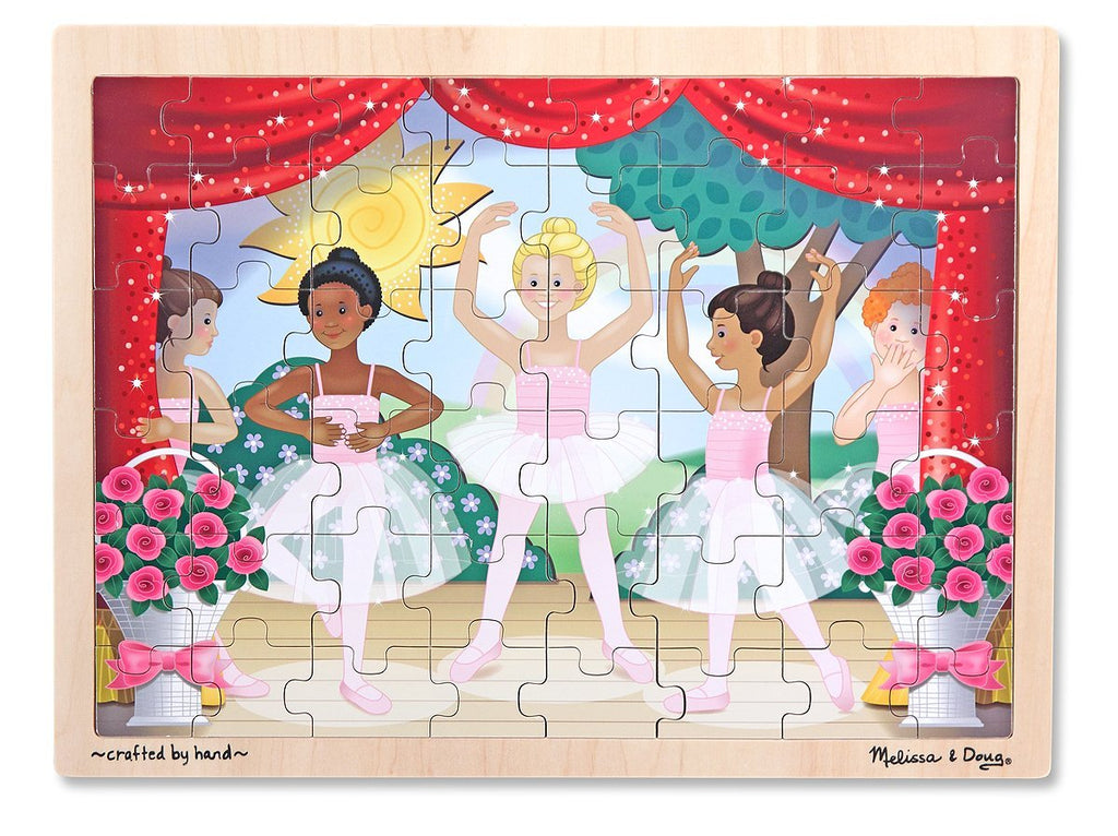 Melissa & Doug 48 Piece Ballet Recital Wooden Jigsaw Puzzle With Storage Tray [Home Decor]- Olde Church Emporium