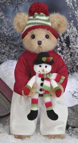 Bearington - Blake & Snowflake Christmas Plush Bear 14 inches and Retired