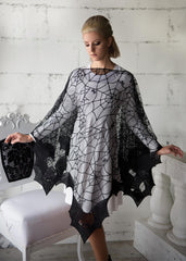 Heritage Lace Bats Poncho One Size Fits All Made in USA - Olde Church Emporium