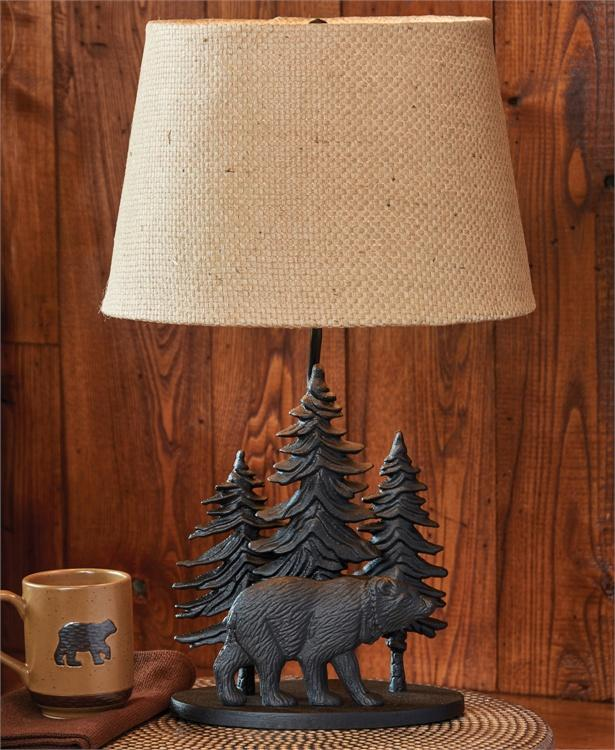 Black Bear Lamp with Shade #25-344 - Olde Church Emporium