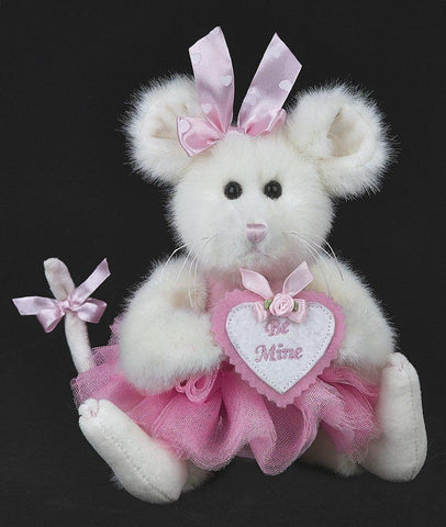 Bearington  - Betty B. Mine Valentine Mouse Stuffed Animal Toy  8 Inches
