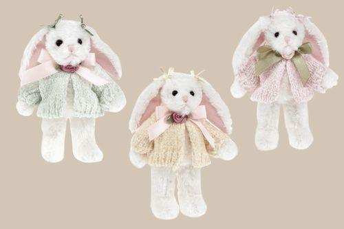 Bearington - Bonnie and Becky Bows Miniature Easter Bunny Bear 4.5 Inches Retired - Olde Church Emporium