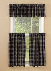Park Designs - Black Coffee Valance - 72 x 14 Inches